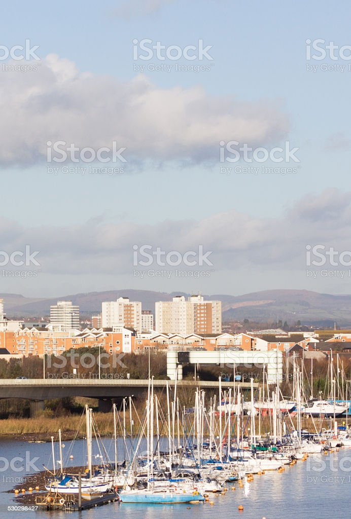 Cardiff Bay in Wales, UK stock photo