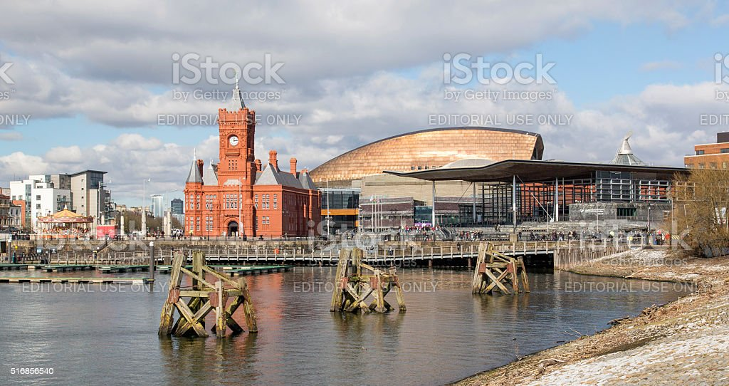Cardiff Bay - National Assembly stock photo