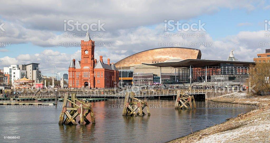 Cardiff Bay - National Assembly stock photo