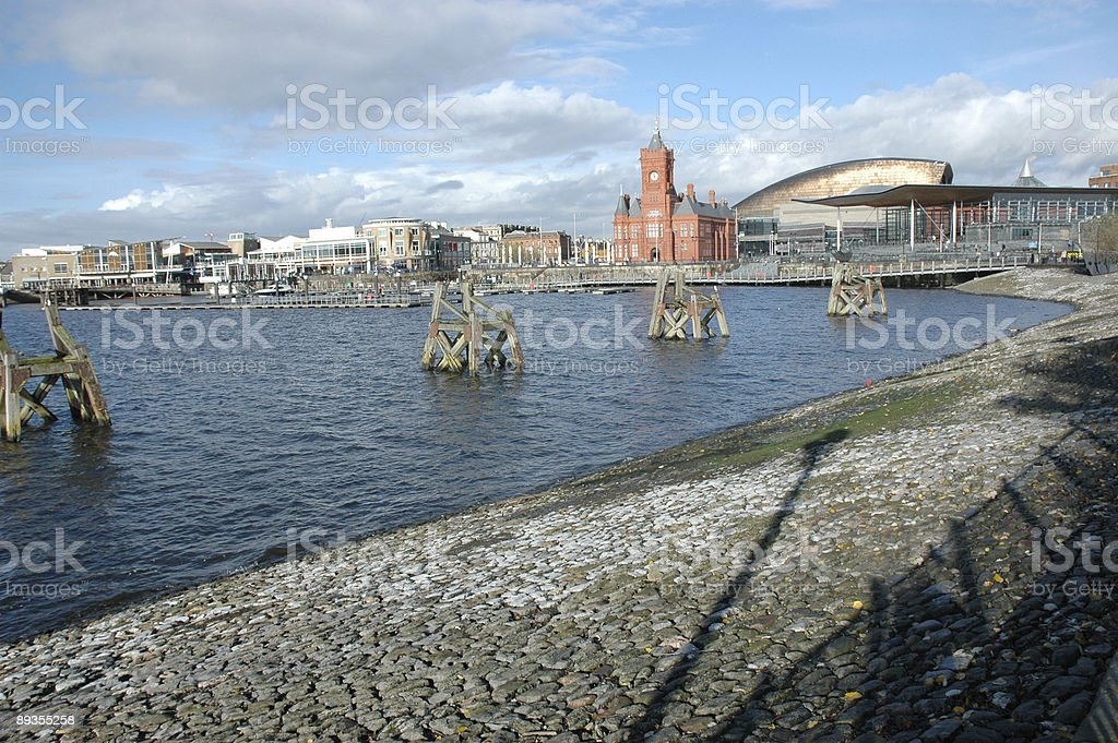 Cardiff Bay on a sunny day stock photo