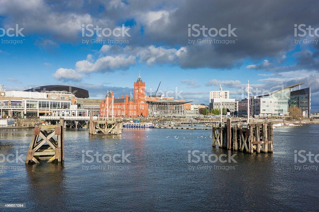 Cardiff Bay Skyline stock photo