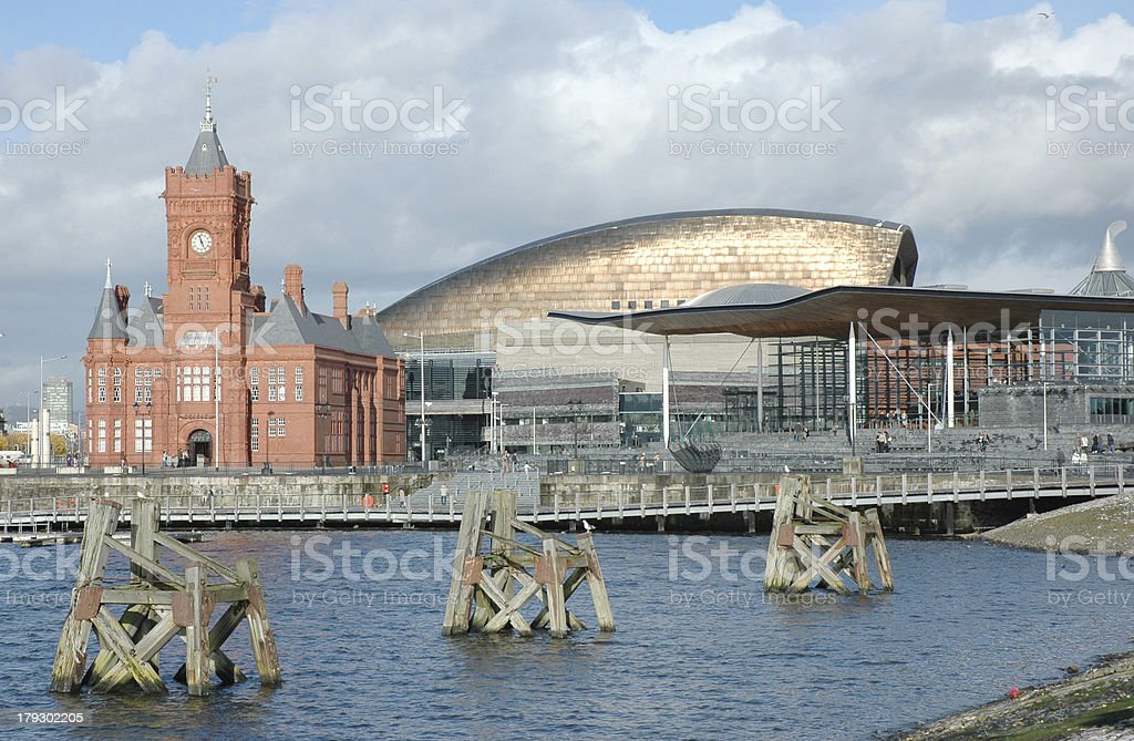 Cardiff Bay, Wales royalty-free stock photo