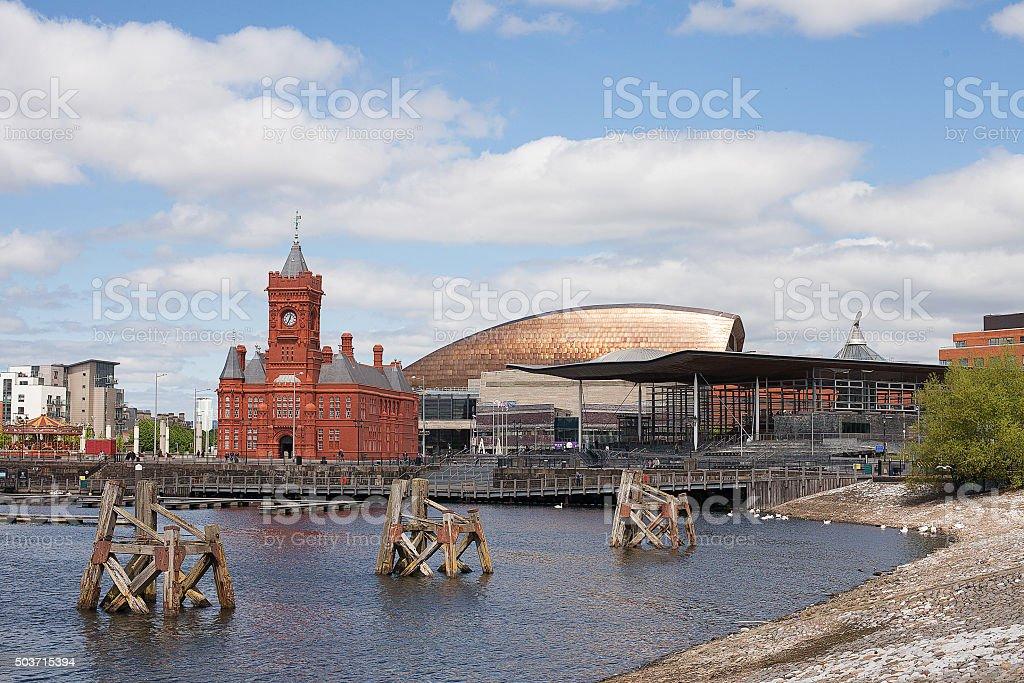 Cardiff Bay Wales stock photo
