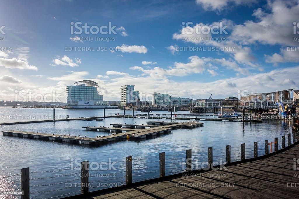 Cardiff Bay, Wales, UK stock photo