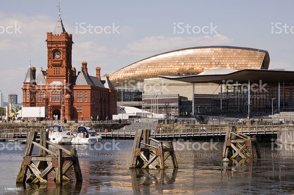 Cardiff Bay Waterfront stock photo