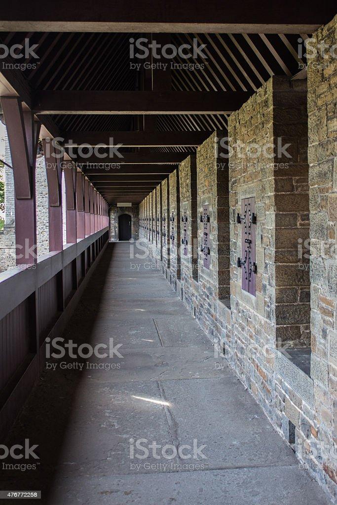 Cardiff Castle Balcony stock photo