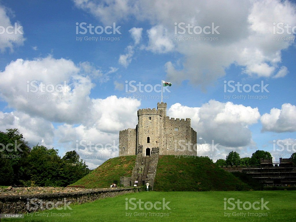 cardiff castle royalty-free stock photo