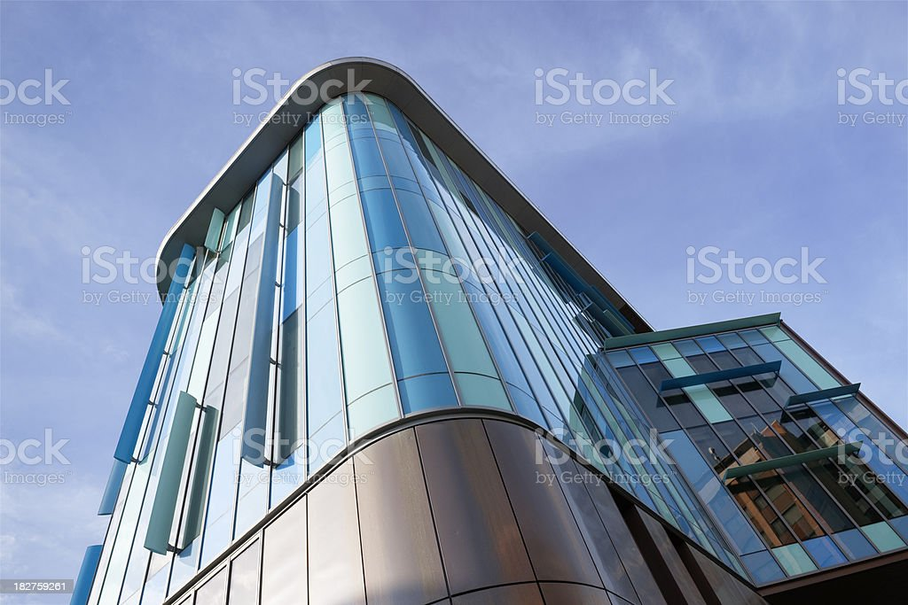 Cardiff Central Library Building stock photo