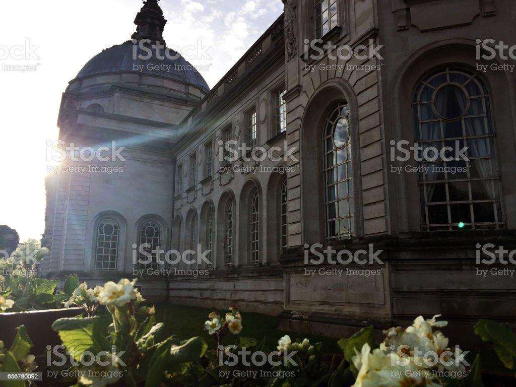 Cardiff City Hall, Exterior stock photo