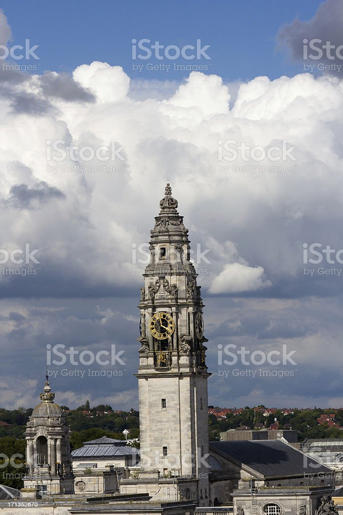 Cardiff City Hall in Wales, UK royalty-free stock photo