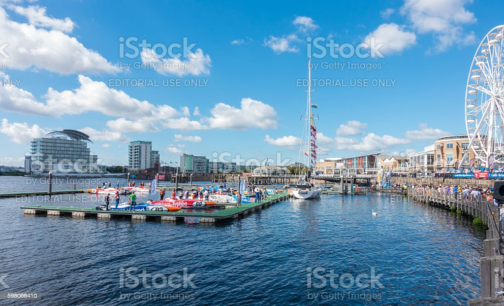 Cardiff Harbour Festival & P1 Welsh Grand Prix of the Sea stock photo