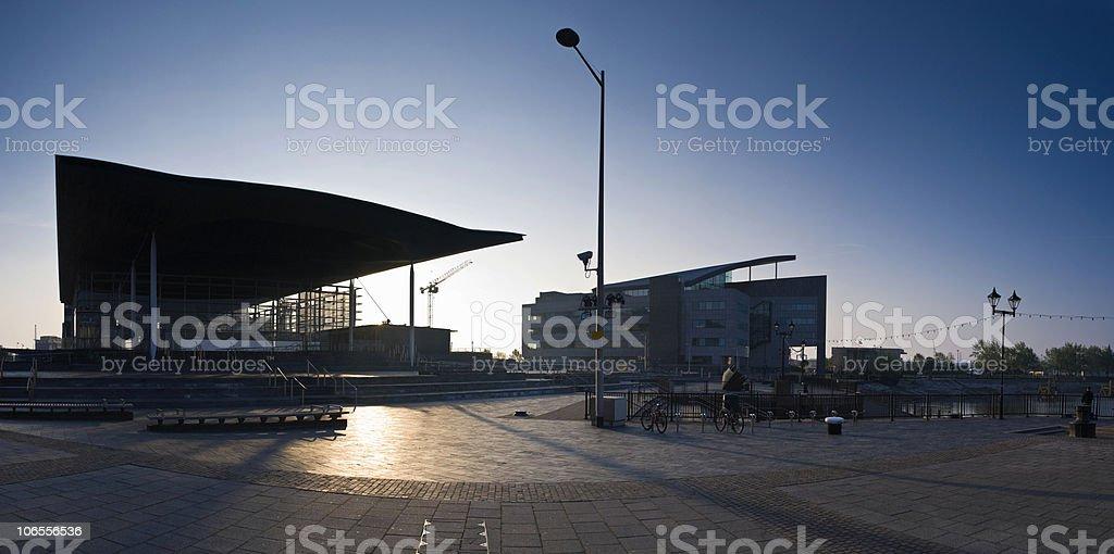 Cardiff Sunrise stock photo
