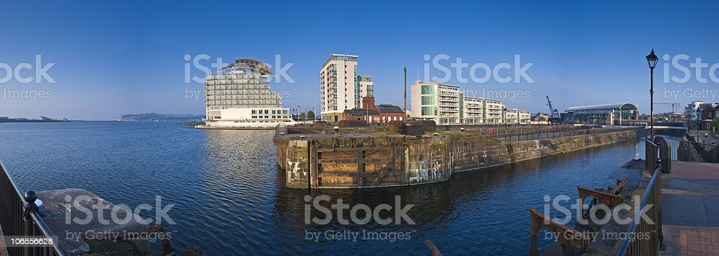 Cardiff views royalty-free stock photo