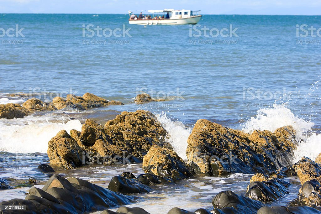 Cardigan Bay in Wales, UK stock photo