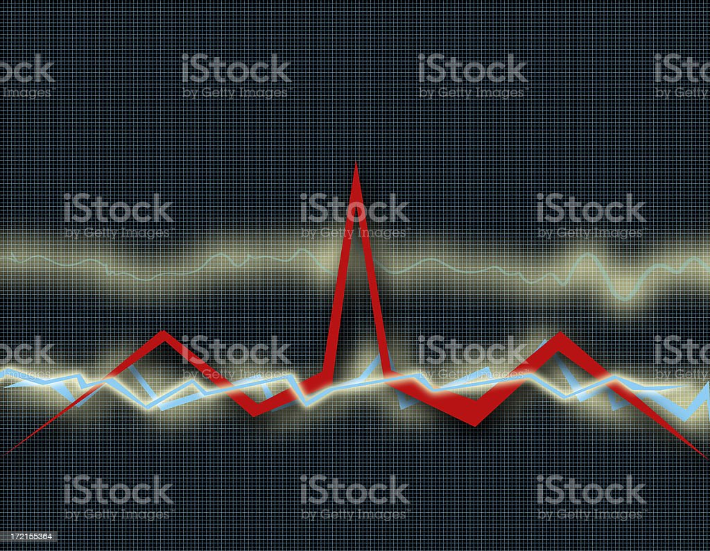 Cardio EKG Health Chart - Healthcare (Part 3) stock photo