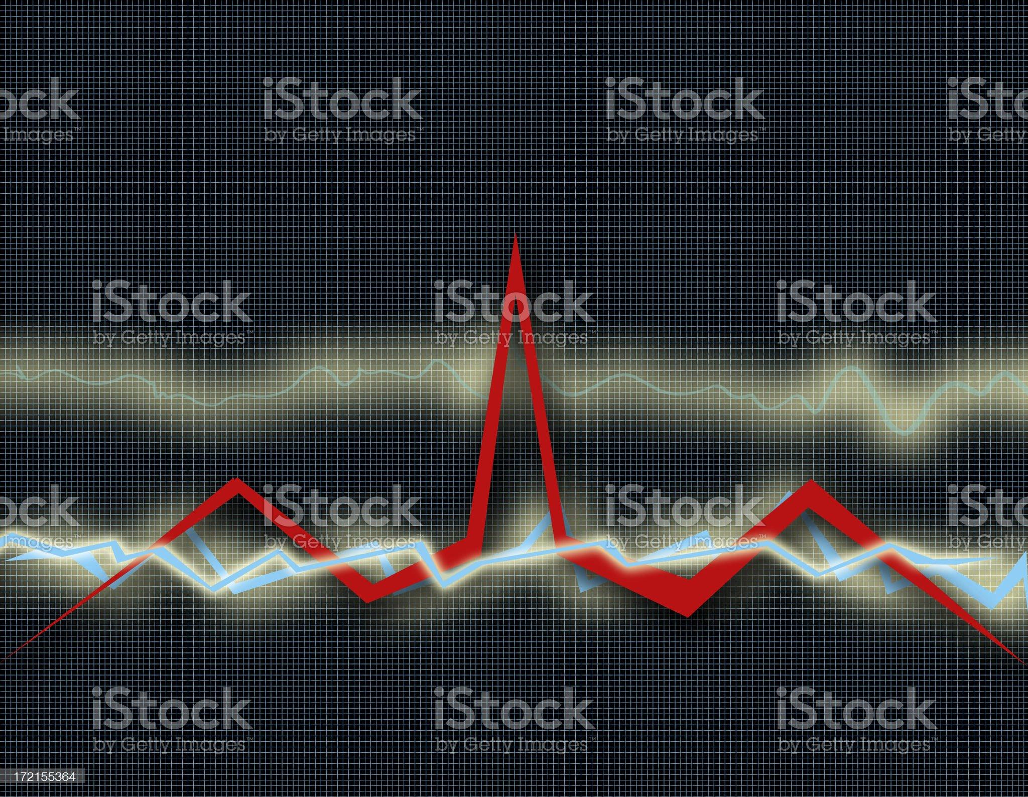 Cardio EKG Health Chart - Healthcare (Part 3) royalty-free stock photo