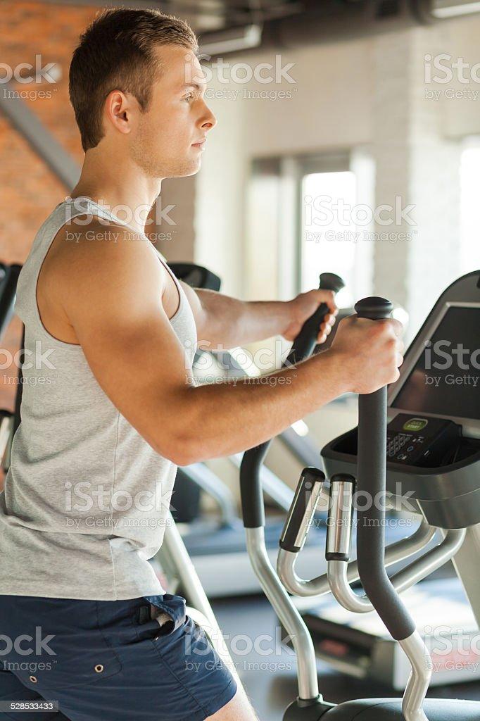 Cardio exercise. stock photo