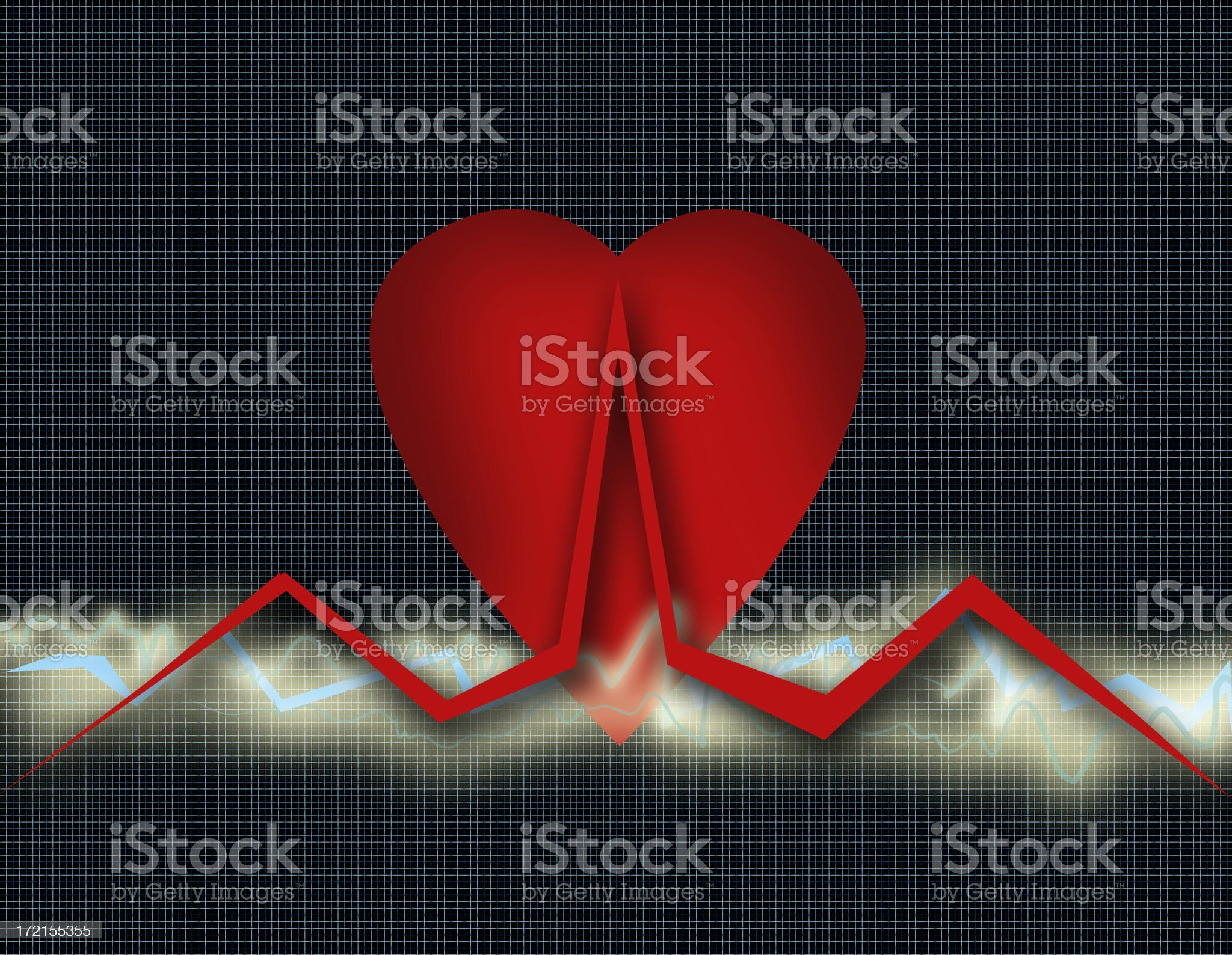 Cardio Healthcare - Heart Health Care Grid  (Part 1) royalty-free stock photo