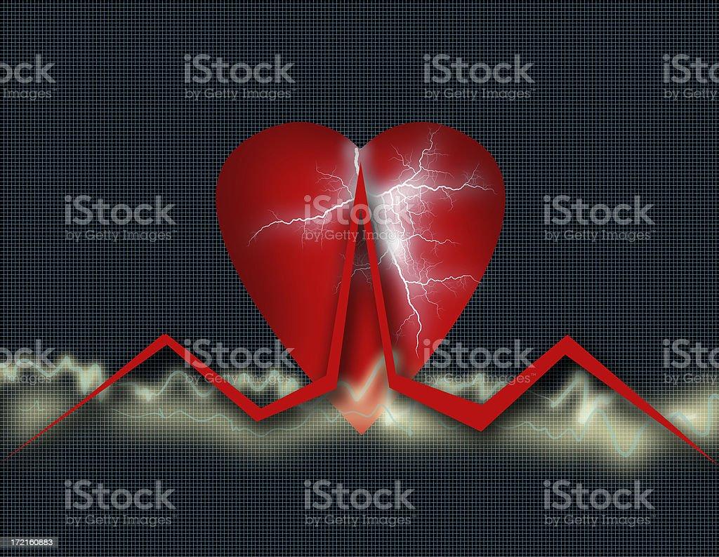 Cardio Healthcare - Heart Health Chart  (Part 2) royalty-free stock photo