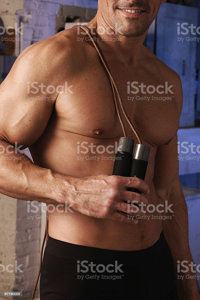 Cardio man royalty-free stock photo