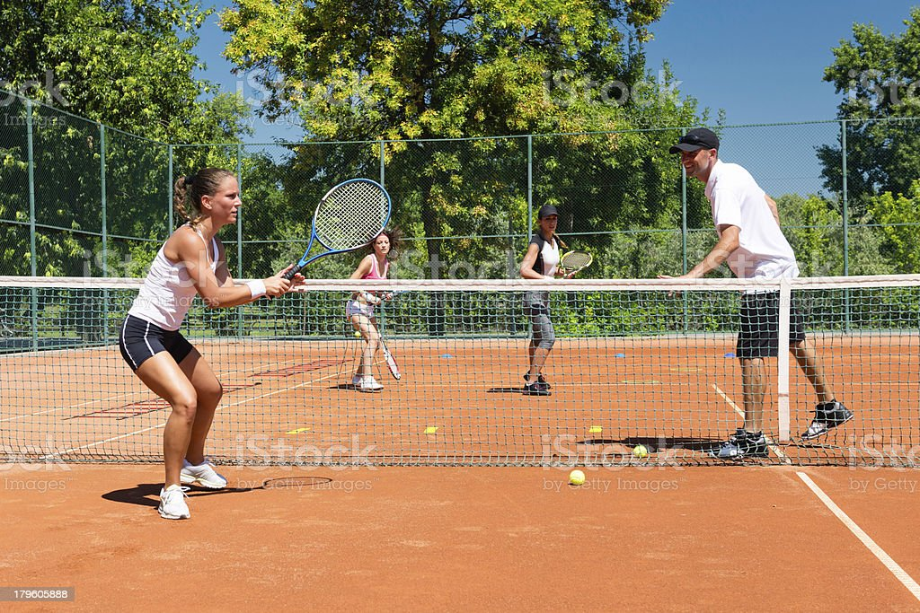 Cardio tennis royalty-free stock photo