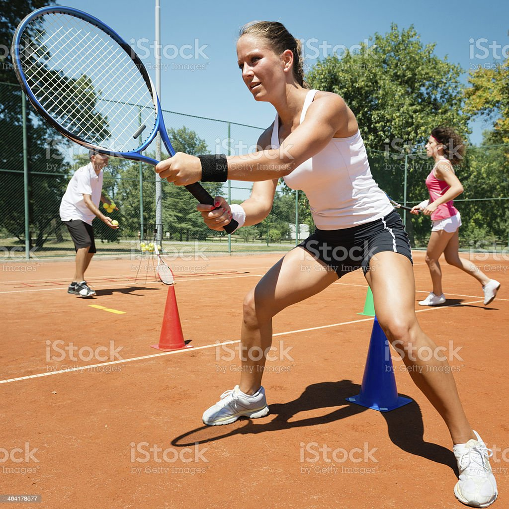 Cardio tennis royalty-free stock photo