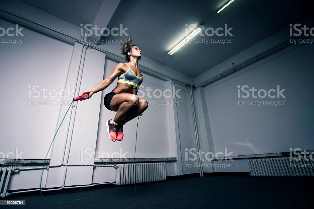 Cardio workout stock photo