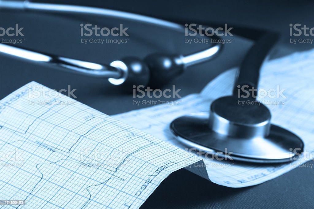 Cardiography examination royalty-free stock photo