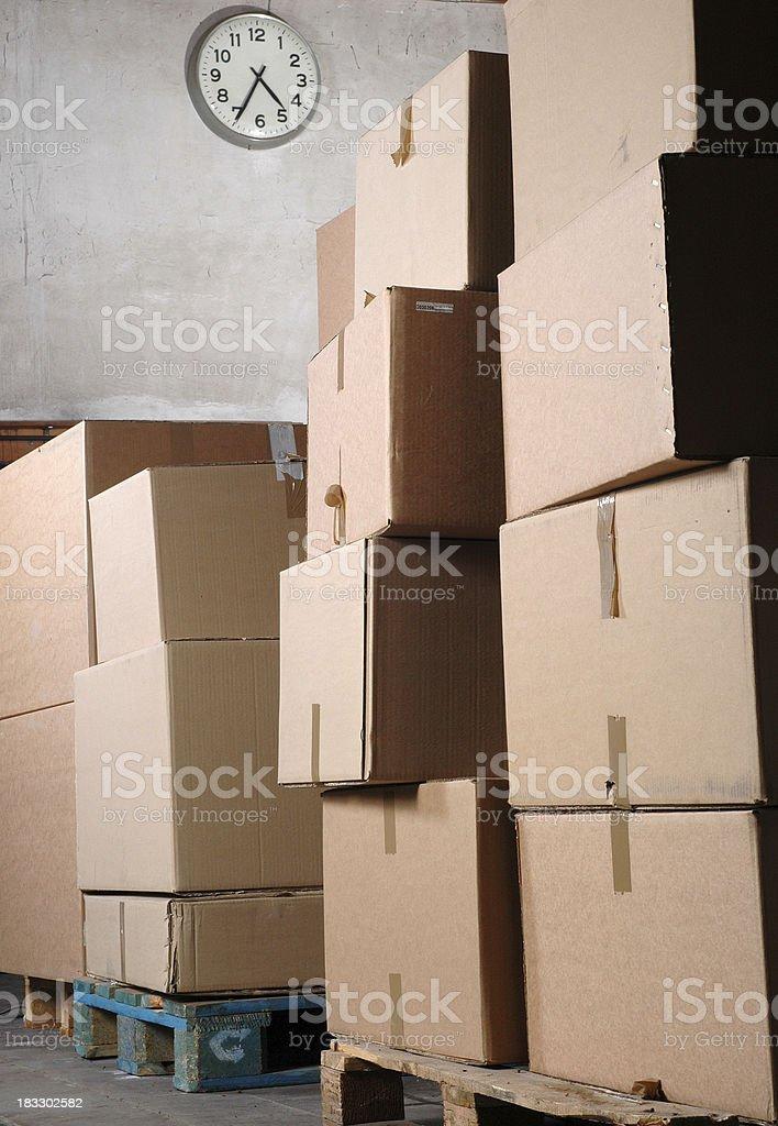 Cardoard boxes stock photo