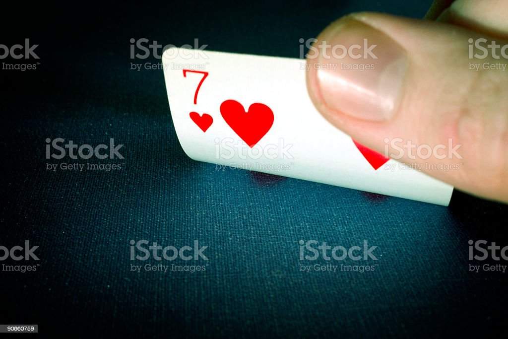 cards 7 stock photo