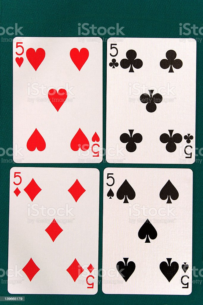 cards all 5 royalty-free stock photo