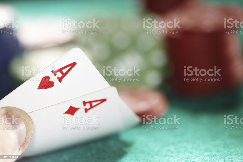 Cards and casino chips royalty-free stock photo