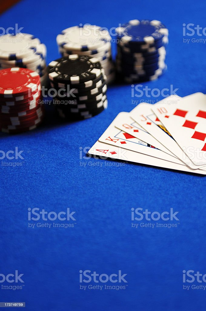 cards and gamming chips royalty-free stock photo