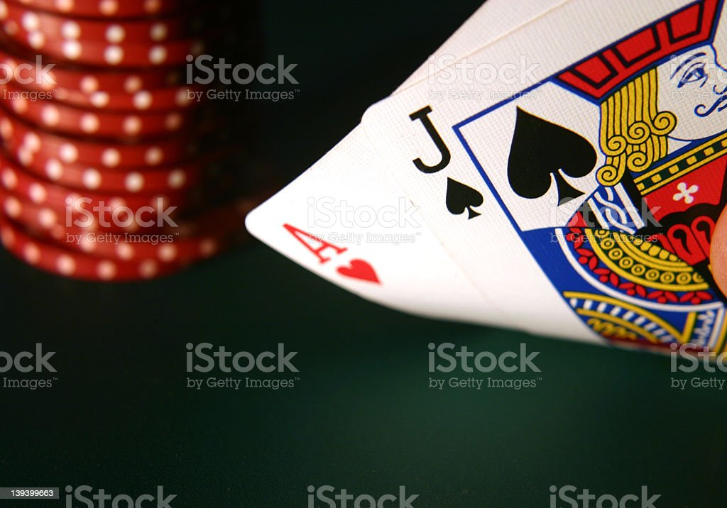 Cards Blackjack royalty-free stock photo