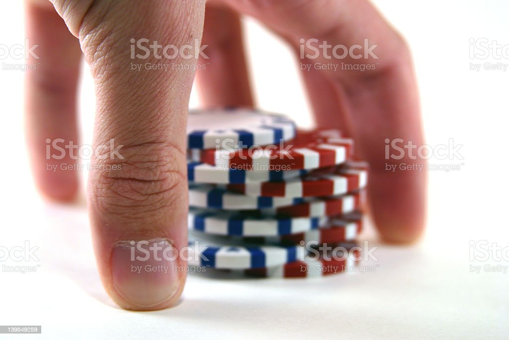 Cards - Chip Shuffle stock photo