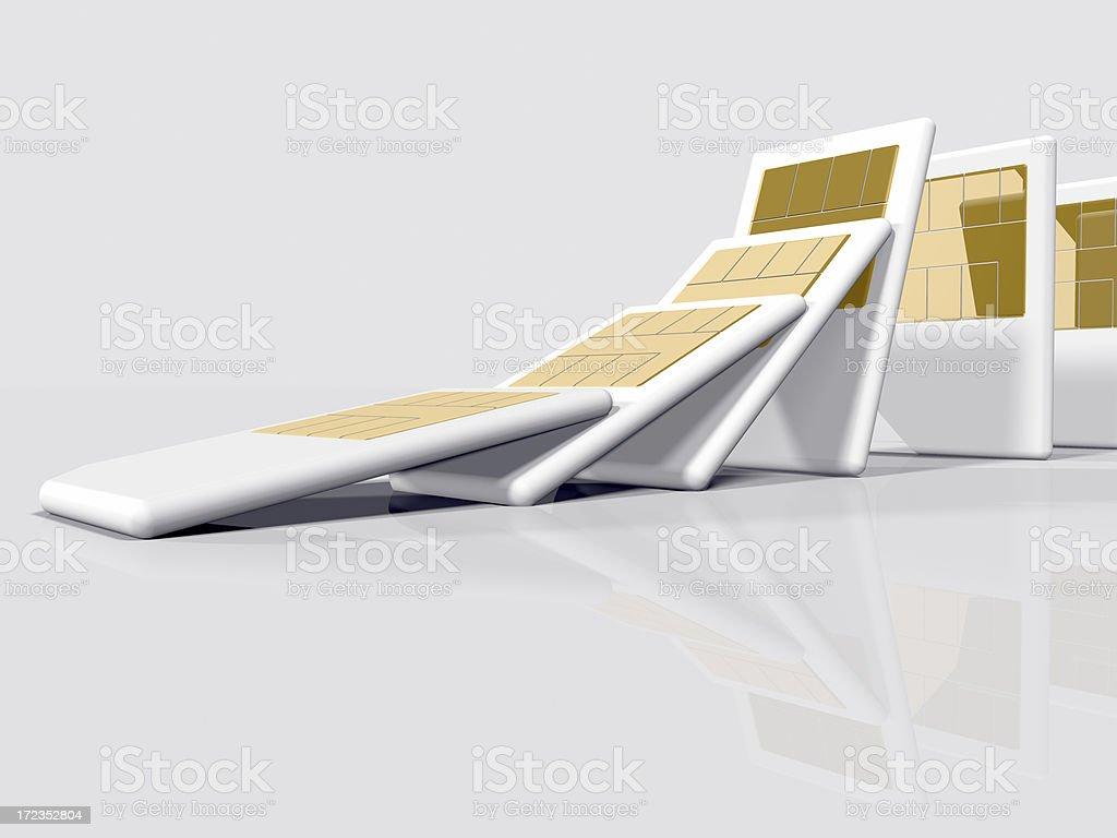 SIM Cards Falling royalty-free stock photo
