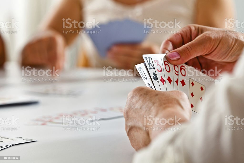 Cards game royalty-free stock photo