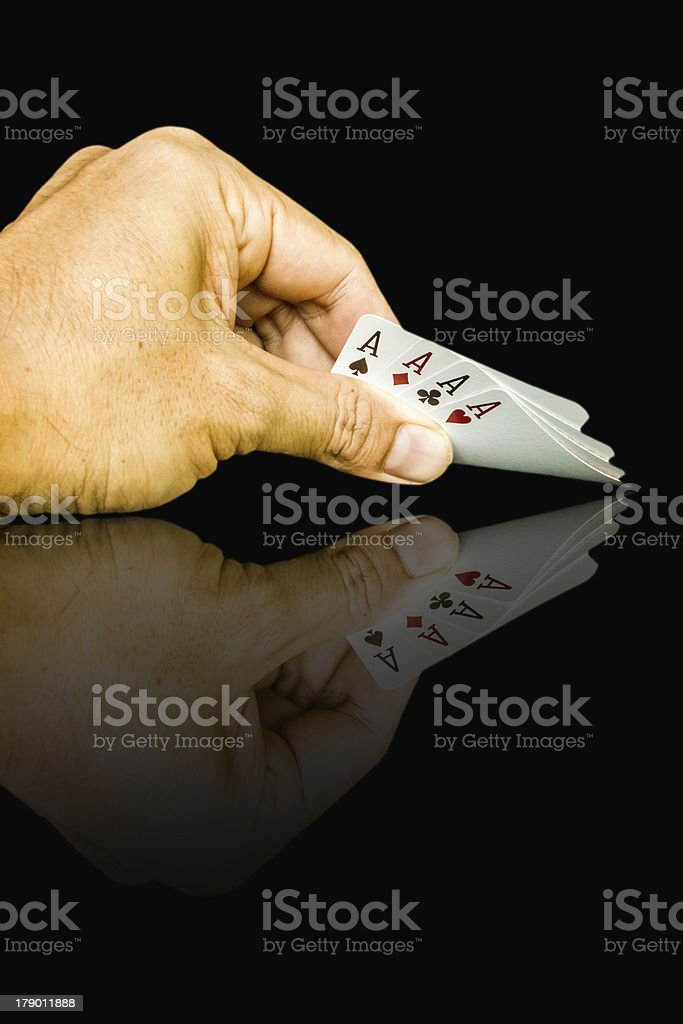 cards holding by hand royalty-free stock photo