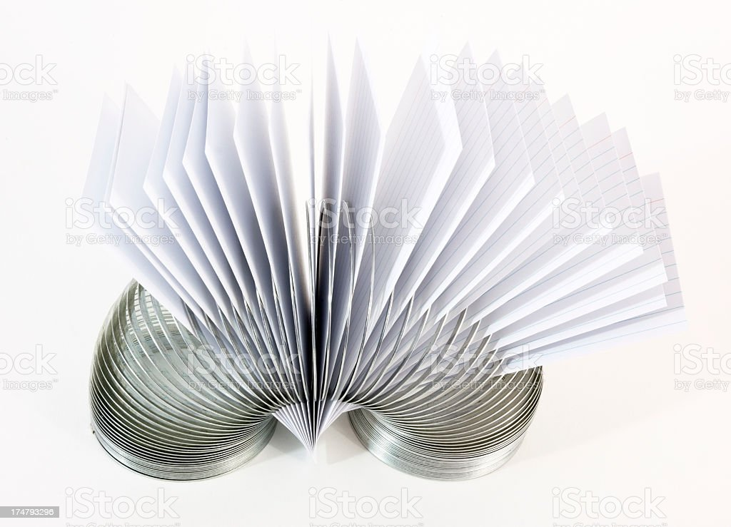 Cards in a Coil royalty-free stock photo