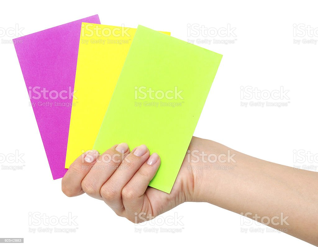 cards in a hand royalty-free stock photo