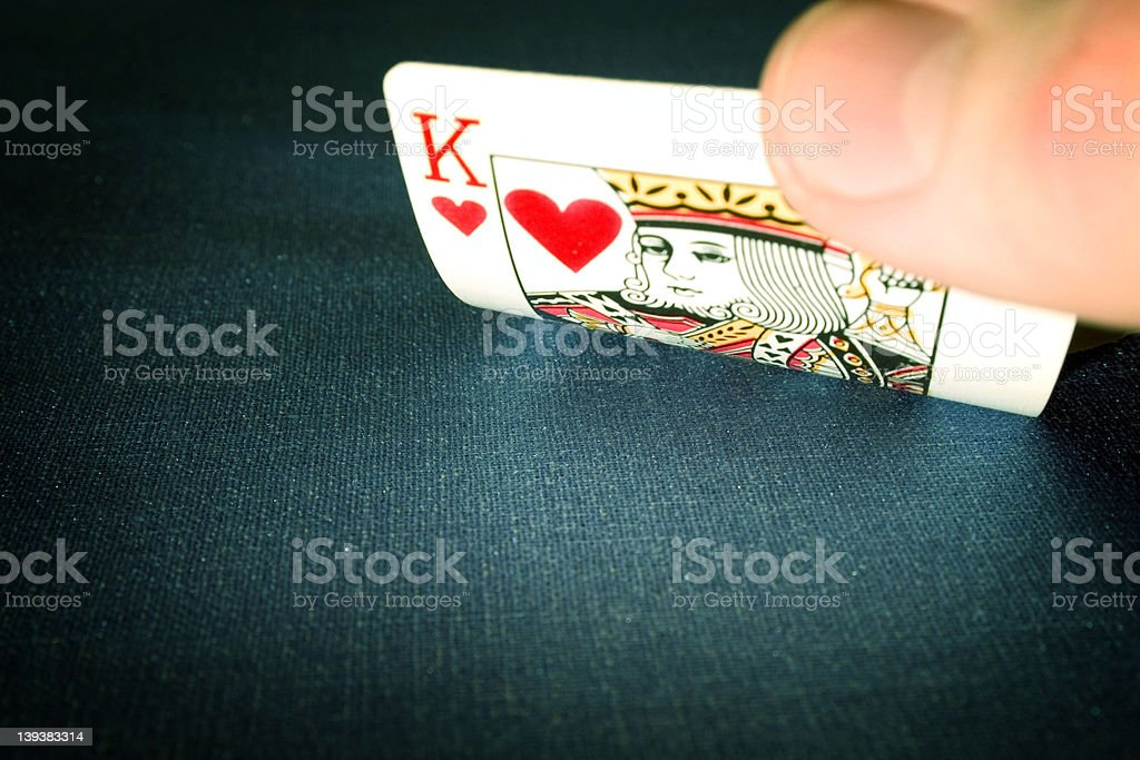 cards King stock photo