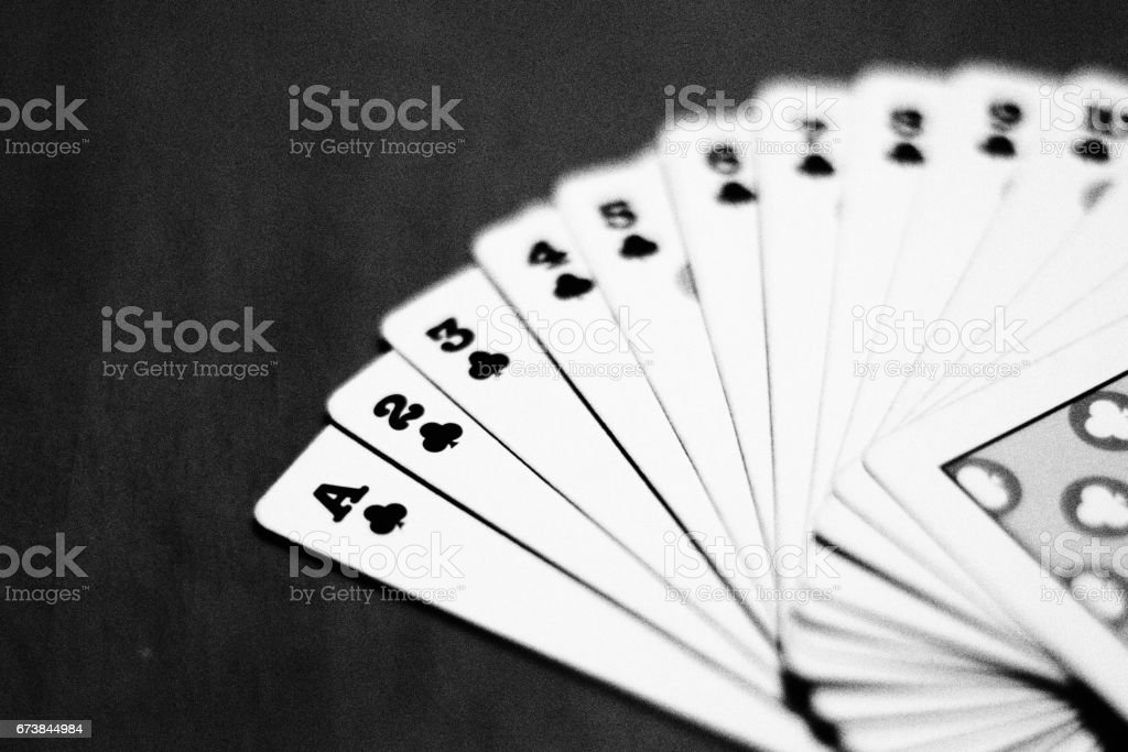 Cards of Clubs stock photo