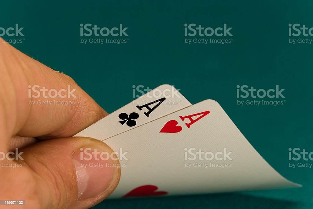 cards pair of aces royalty-free stock photo