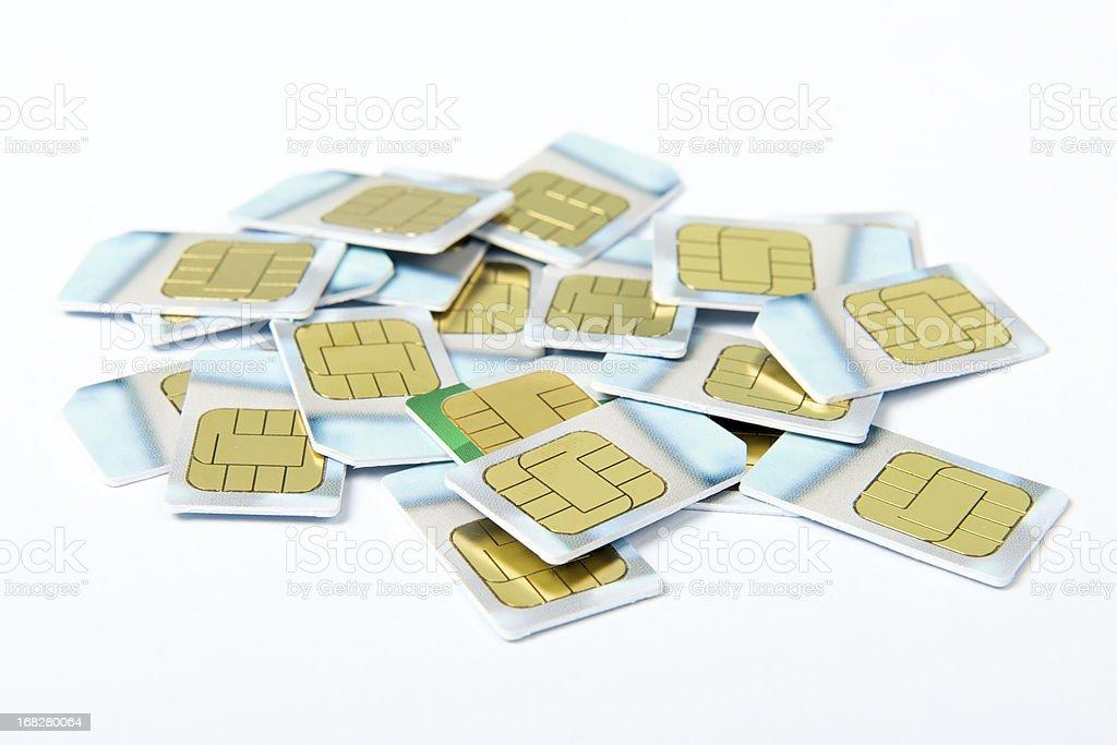 SIM cards stock photo