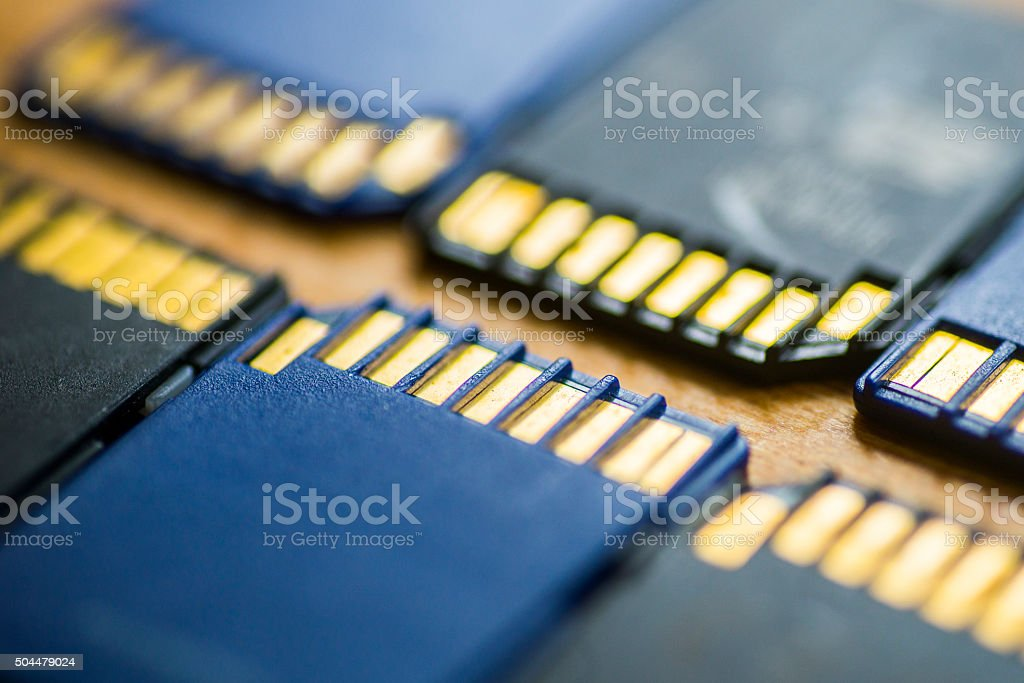SD cards stock photo