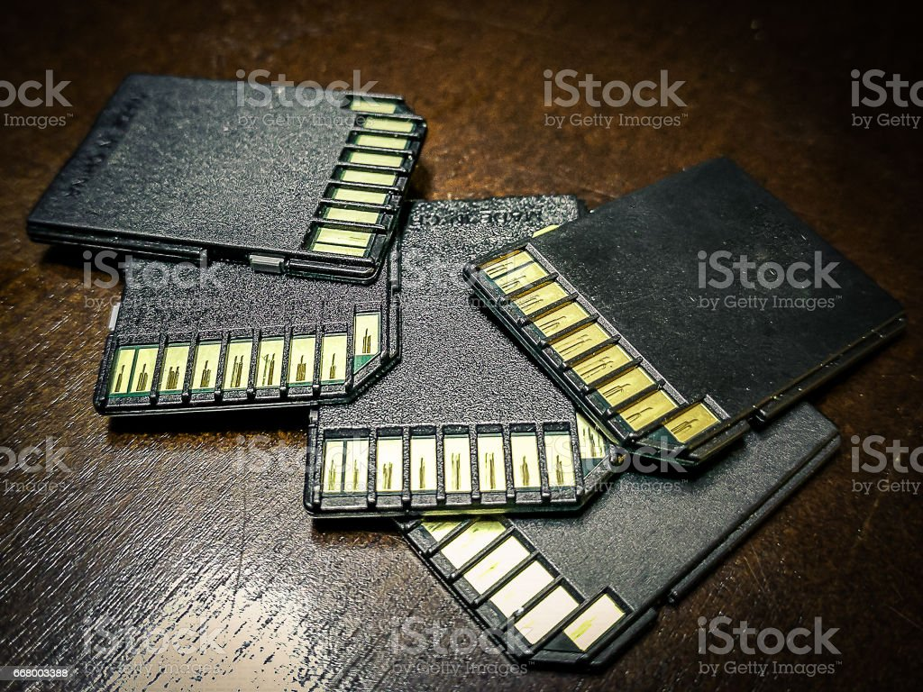 SD cards stock photo