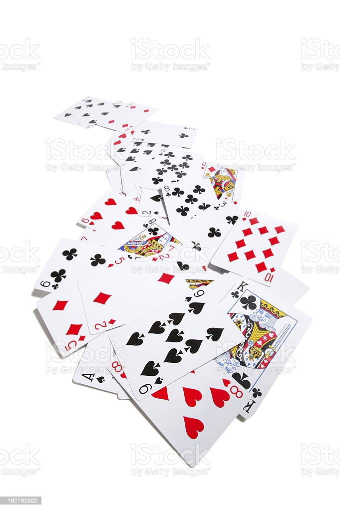 cards stack (w/clipping path) royalty-free stock photo