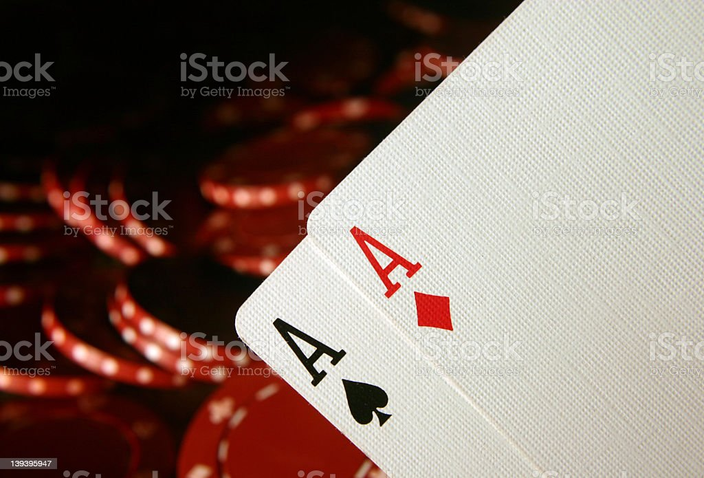 Cards Two Aces 1 royalty-free stock photo