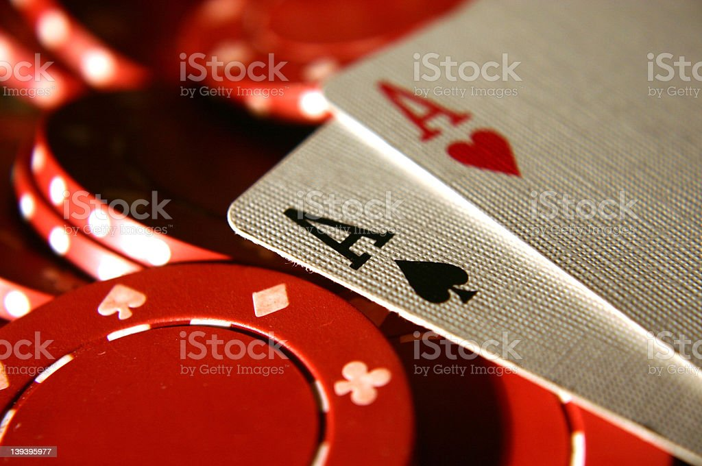 cards Two Aces 2 stock photo