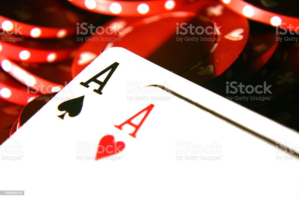 cards Two Aces 4 royalty-free stock photo